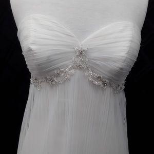 Size 10 boho style wedding gown